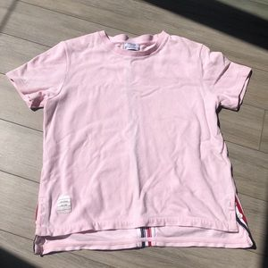 SOLD $115 Thom Browne Pink Cotton T shirt